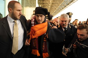 Nainggolan arriva a roma