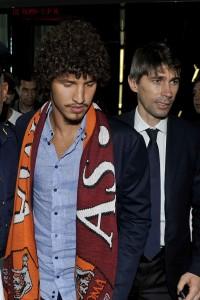 Salih Ucan è arrivato a Roma(FOTOTEDESCHI)