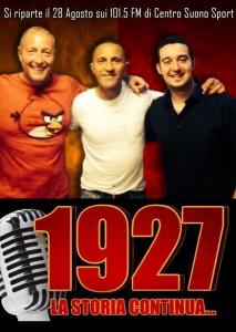 1927 sui 101.5 FM di Centro Suono Sport