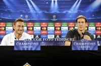 """Champions, Garcia: """"Voglio un Olimpico di fuoco"""" Totti: """"Bello tornare in Champions"""""""