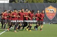 La Roma si prepara alla super sfida col Bayern (FOTO)