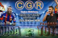 Cska-Roma 1-1 (42′ Totti, 93′ Berezutski) beffa finale finisce pari