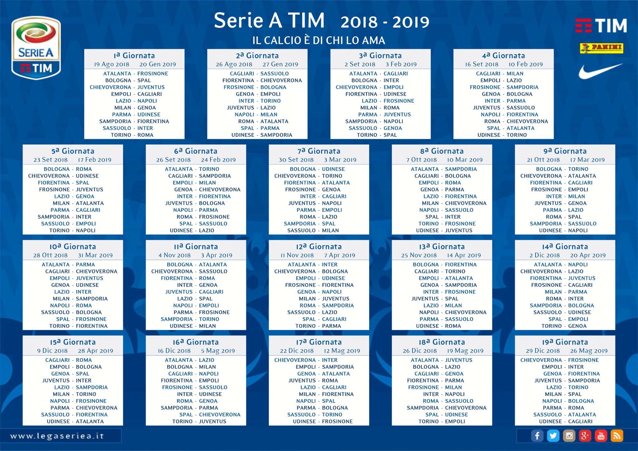 Calendario Serie A 11 Giornata.Serie A 2018 19 Roma Esordio A Torino Contro I Granata