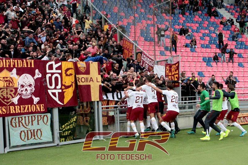 Settore Bologna gol Dzeko squadra