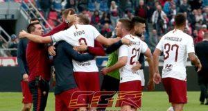 fine partita Bologna Roma esultanza