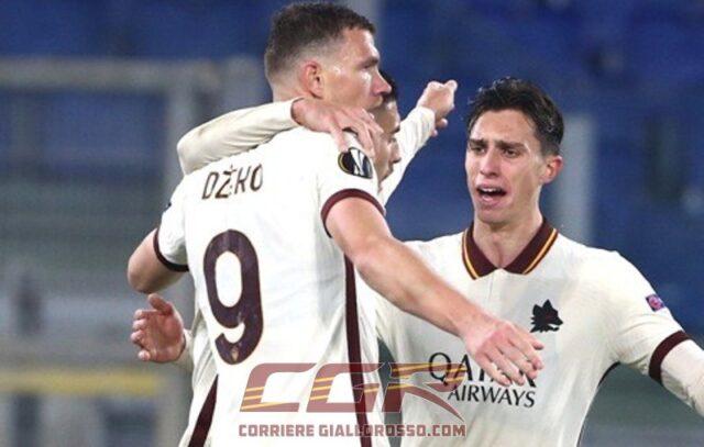 Dzeko Calafiori gol Roma Ajaz